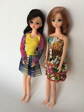LOT SET OF 2 ANIME STYLE DOLLS TAKARA Licca Doll Heads On Takara Jenny Bodies