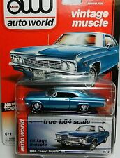`66 Chevrolet Impala SS  Ice-Blue  Chevy 1966 **RR**JL Auto World 1:64 RAR+OVP