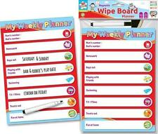 Children's Magnetic Wipe Board Planner with Marker