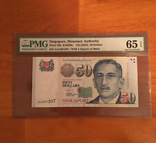 Singapore 50 Dollars ND 2010 P-49b  PMG 65 GEM UNC