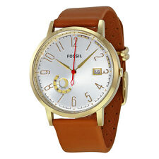 Fossil Vintage Muse Silver Dial Tan Leather Ladies Watch ES3750