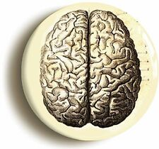 HUMAN BRAIN BADGE BUTTON PIN (1inch/25mm diameter) ANATOMY DOCTOR NURSE