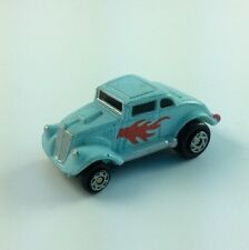 Micro Machine Vehicle Lot 1933 WILLYS COUPE Light Blue Red Flames Dragster Funny