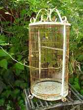 Old Vintage Antique Metal Birdcage White Rusty Home Garden Decor Bird Cage Large