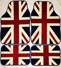CAR FLOOR MATS-UNION JACK FOR MG ZT ZS ZR TF MGF MG6 MGD GT HEAVY DUTY CARPET