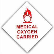 Medical Oxygen Carried-Car,Bus,Cab,Taxi Minicab,Ambulance Sticker-Safety Sign