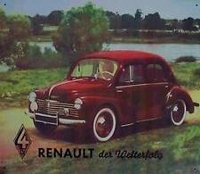 Altes Blechschild Oldtimer Renault Cremeschnittchen PKW Limosine  gebraucht used