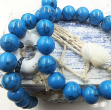 8mm 10pcs Blue Turquoise Natural Gemstone Round Spacer Loose Beads Scattered