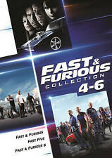 Fast & Furious/ Fast Five/ Fast & Furious 6 4 5 6 (DVD, 2016, 3-Film) Free Ship