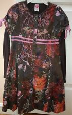 Cakewalk Dress Brown Floral Pink Orange Euro 128 8 Boutique Floral Flower