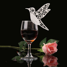 Bird Paper Name Place Card For Wedding Party Table Wine Glass Decoration GF