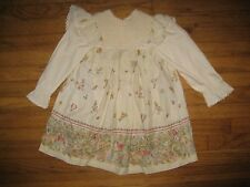 Vintage Kate Greenaway Size 6 Beatrix Potter Peter Rabbit Smocked Unique Dress!!