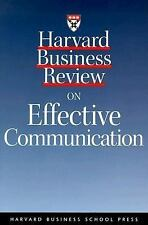 Harvard Business Review Paperback: Harvard Business Review on Effective Communi…