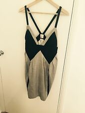 Sass & Bide Gold/Black Designer Dress (uk Size 10)