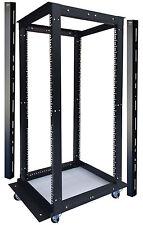 """42U 4 Post Open Frame 19"""" Network Server Rack Cabinet Adjustable Depth 24""""-37"""""""