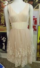 NWOT Anthropologie Sexy Blush Lace Ballerina Dress Tulle S M Modcloth Free