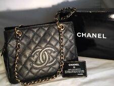 Chanel Black Caviar Tote Shoulder Handbag