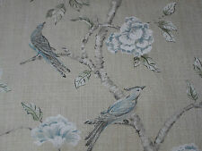 Zoffany Curtain Fabric 'Woodville' 3.9 METRES (390cm) Pebble - Linen Blend