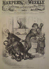 Sparring Over Civil Rights Bill in the House 1875 Harper's Weekly
