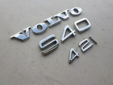 04-12 Volvo S40 2.4I Emblem Decorative Ornament Decal Trim Nameplate Sticker Set