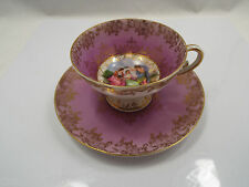 Antique Austria China Gilt Handpainted A Kaufmann Tea Cup & Saucer, Classical