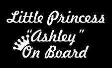 Little princess on Board custom personalised name sticker vinyl decal car window