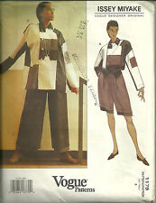Vogue 1179 Issey Miyake Colorblock Top, Shorts, Pants Pattern Size 8 Uncut 1990s