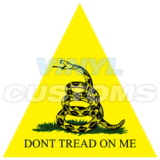 "3"" Dont Tread On Me Sticker Decal Molon Labe Snake"
