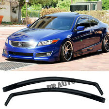 For 08-12 Honda Accord 2DR Coupe In-Channel Side Window Visors Guards  JDM