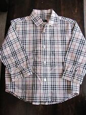 Burberry baby boy long sleeve shirt size 2 years