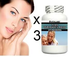 3x Anti Ageing Anti Wrinkle Tablets Pills Fine Lines Youthful Skin Collagen