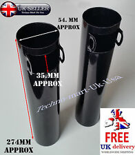 NEW PAIR BLACK FRONT FORK MAIN TUBE COVER ROYAL ENFIELD BULLET 350CC @Uk