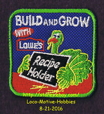 LMH PATCH Badge RECIPE HOLDER Box Turkey Chicken LOWES Build Grow Project Series