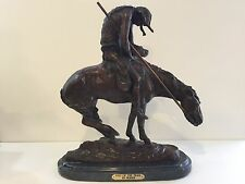 """End of the Trail"" Pure Bronze Sculpture Statue by James E. Fraser, 18 1/2"" Tall"