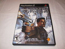 Syphon Filter Dark Mirror (Playstation PS2) Black Label Complete LN Perfect Mint