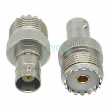 2pcs Conversion Adapter SO239 UHF female F to BNC female F connector for Antenna