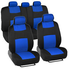 Car Seat Covers for Ford Mustang 2 Tone Blue & Black w/ Split Bench