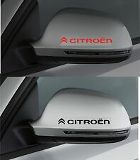 For CITROEN - 2 x Wing Mirror CAR DECAL STICKER ADHESIVE - C1 C3  DS4 100mm long