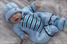 Baby Knitting Pattern DK 4 TO KNIT Romper Hat Booties Boys Girls Reborn Dolls