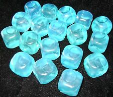 NEW 18 REUSABLE SQUARE ICE CUBES QUICK FREEZING BLUE PMS