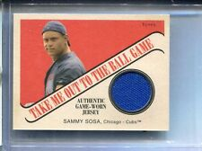 2004 Cracker Jack Take Me Out To The Ball Game Sammy Sosa Jersey Scarce Only 1