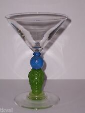 Richard Jolley BOMBAY SAPPHIRE CRYSTAL  MARTINI GLASS 1996 Multi-Color