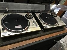 2 TECHNICS SL1200MK2 SL 1200 MK2 PAIR DJ TURNTABLES /w covers //ARMENS