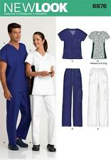 NEW LOOK SEWING PATTERN Unisex MENS MISSES Scrub Top Pants Misses Scrub Top 6876