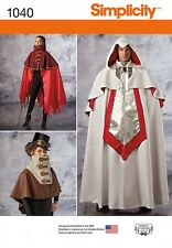 Simplicity Ladies & Mens Sewing Pattern 1040 Fancy Dress Costume Capes (S...
