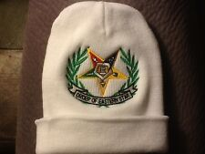 O.E.S Winter Beanie, Order Of Eastern Star White