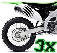 3x Monster Kralle Sticker Aufkleber Sponsor Motorrad Auto JDM OEM MOTORCROSS