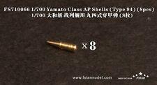 Five Star Model 1/700 #710066 Yamato Class Type 94 AP Shells (8 pcs)