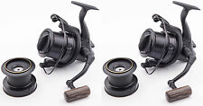 2x Wychwood Riot Big Pit Matt Black 75S Carp Fishing Distance Reel + Spare Spool