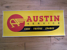 AUSTIN SERVICE Large Workshop STICKER Cars Trucks Spares Garage Sign Sales Mini